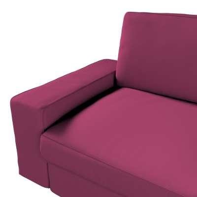 Pokrowiec na sofę Kivik 3-osobową, nierozkładaną w kolekcji Cotton Panama, tkanina: 702-32