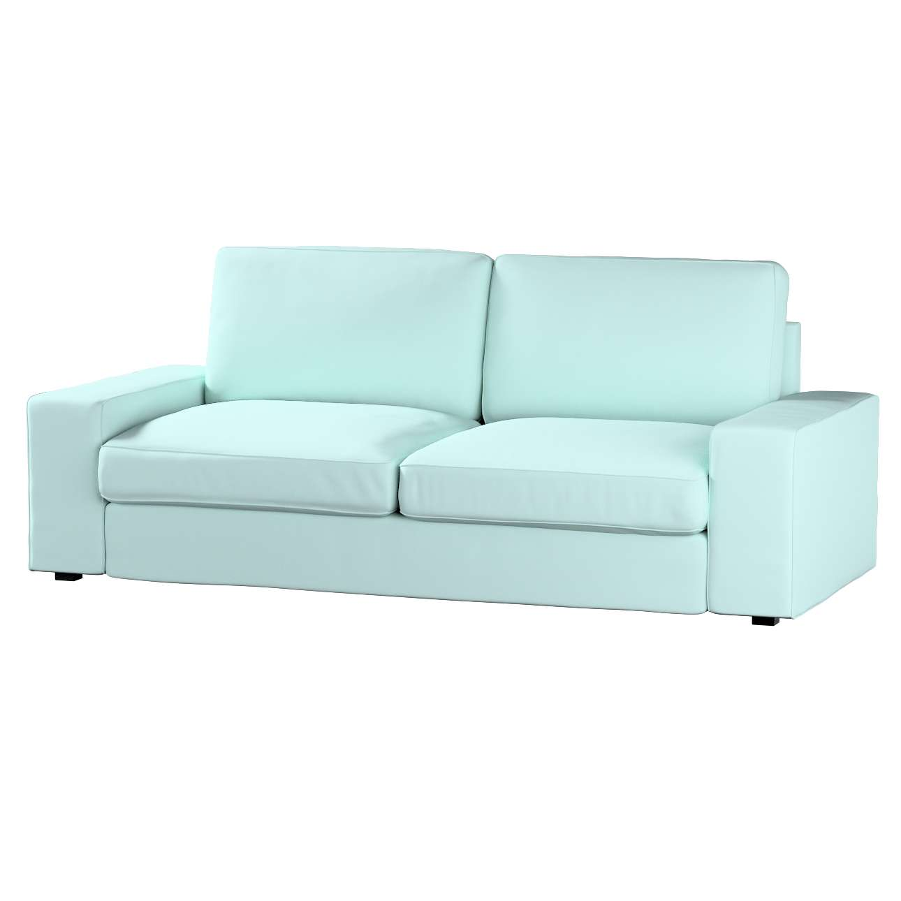 Pokrowiec na sofę Kivik 3-osobową, nierozkładaną w kolekcji Cotton Panama, tkanina: 702-10