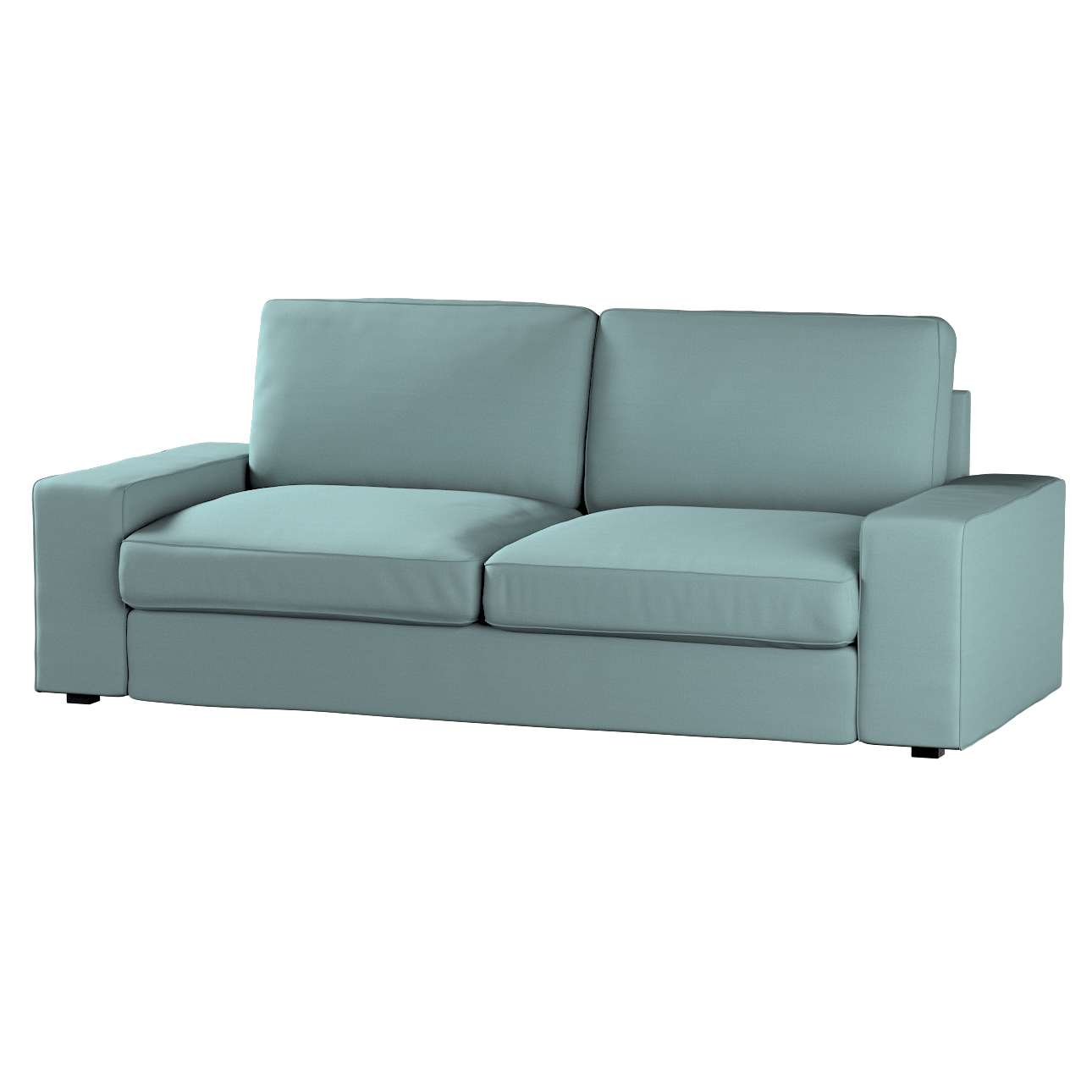 Pokrowiec na sofę Kivik 3-osobową, nierozkładaną w kolekcji Cotton Panama, tkanina: 702-40