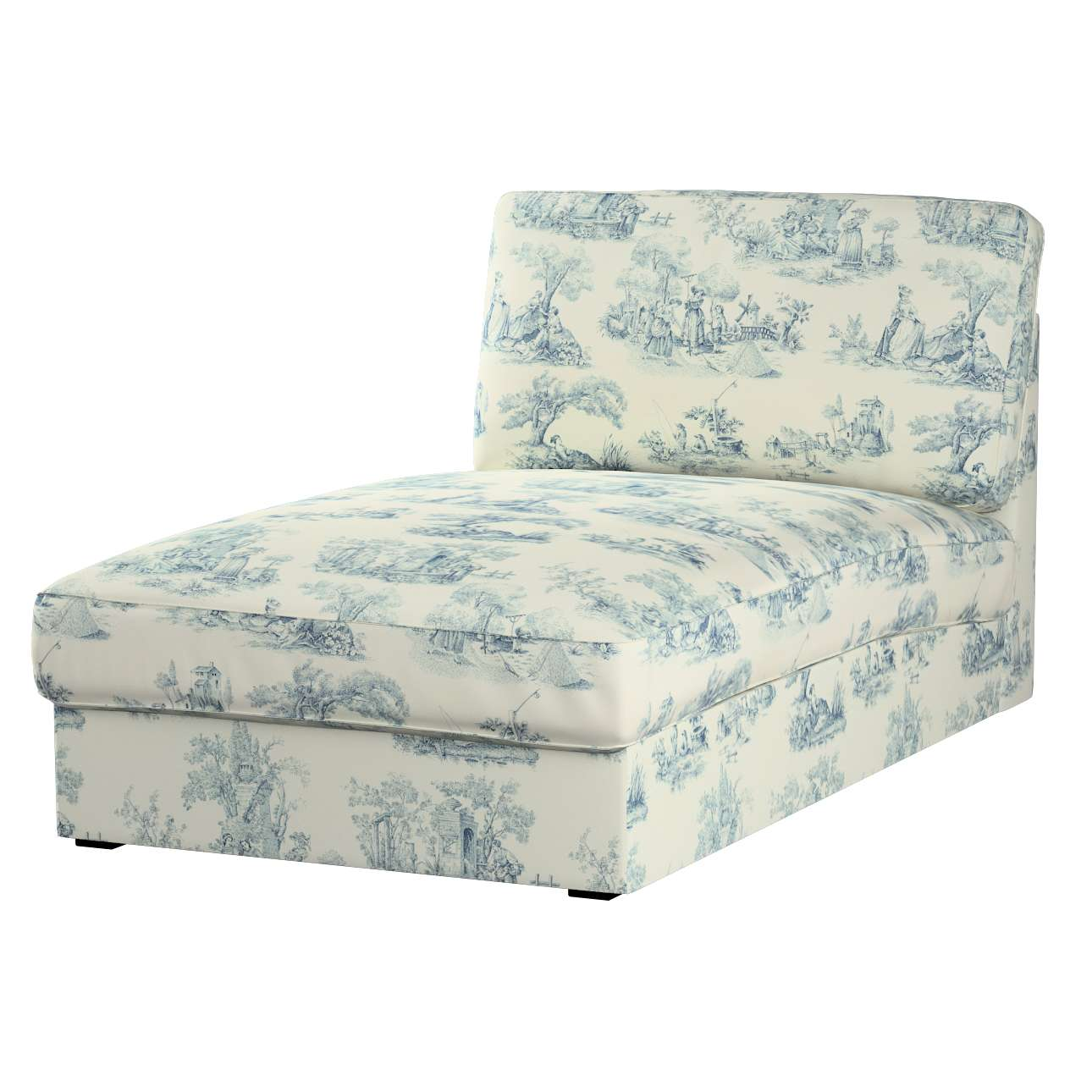 kivik recamiere sofabezug creme blau dekoria. Black Bedroom Furniture Sets. Home Design Ideas