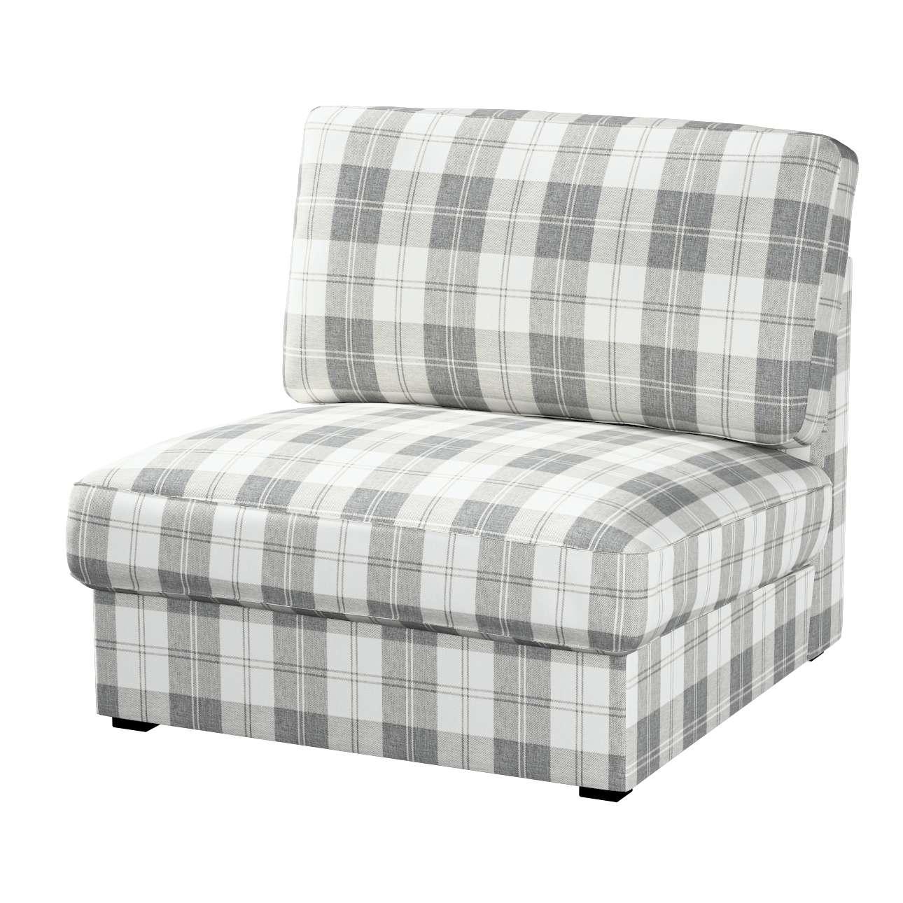 kivik sesselbezug wei grau dekoria. Black Bedroom Furniture Sets. Home Design Ideas