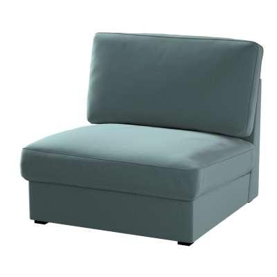 Pokrowiec na fotel Kivik 705-36 zgaszony szmaragd - welwet Kolekcja Ingrid