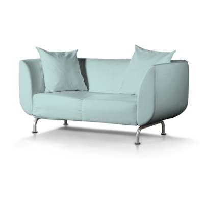 Stromstad 2-seater sofa cover 702-10 pastel blue Collection Panama Cotton