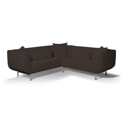 Pokrowiec na sofę narożną 3+2 Strömstad w kolekcji Cotton Panama, tkanina: 702-03