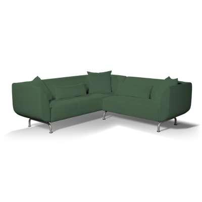 Pokrowiec na sofę narożną 3+2 Strömstad w kolekcji Cotton Panama, tkanina: 702-06