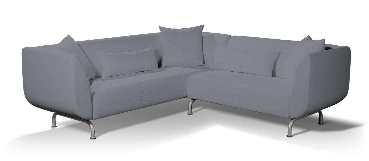 Pokrowiec na sofę narożną 3+2 Strömstad Sofa narożna 3+2 Stromstad w kolekcji Cotton Panama, tkanina: 702-07