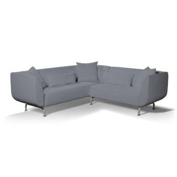 Pokrowiec na sofę narożną 3+2 Strömstad w kolekcji Cotton Panama, tkanina: 702-07