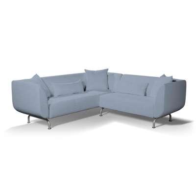 Pokrowiec na sofę narożną 3+2 Strömstad w kolekcji Chenille, tkanina: 702-13
