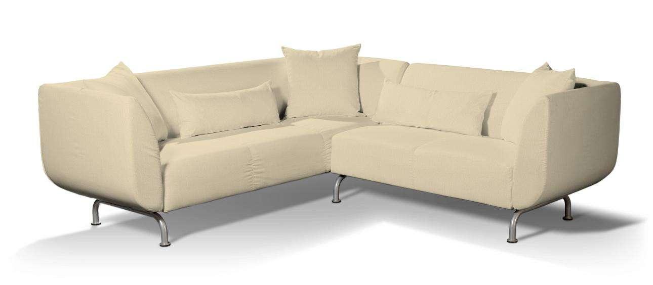 Pokrowiec na sofę narożną 3+2 Strömstad w kolekcji Chenille, tkanina: 702-22