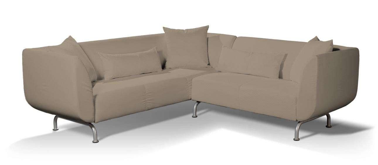 Pokrowiec na sofę narożną 3+2 Strömstad Sofa narożna 3+2 Stromstad w kolekcji Cotton Panama, tkanina: 702-28