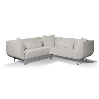 Pokrowiec na sofę narożną 3+2 Strömstad w kolekcji Cotton Panama, tkanina: 702-31