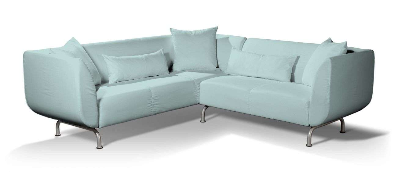 Pokrowiec na sofę narożną 3+2 Strömstad w kolekcji Cotton Panama, tkanina: 702-10