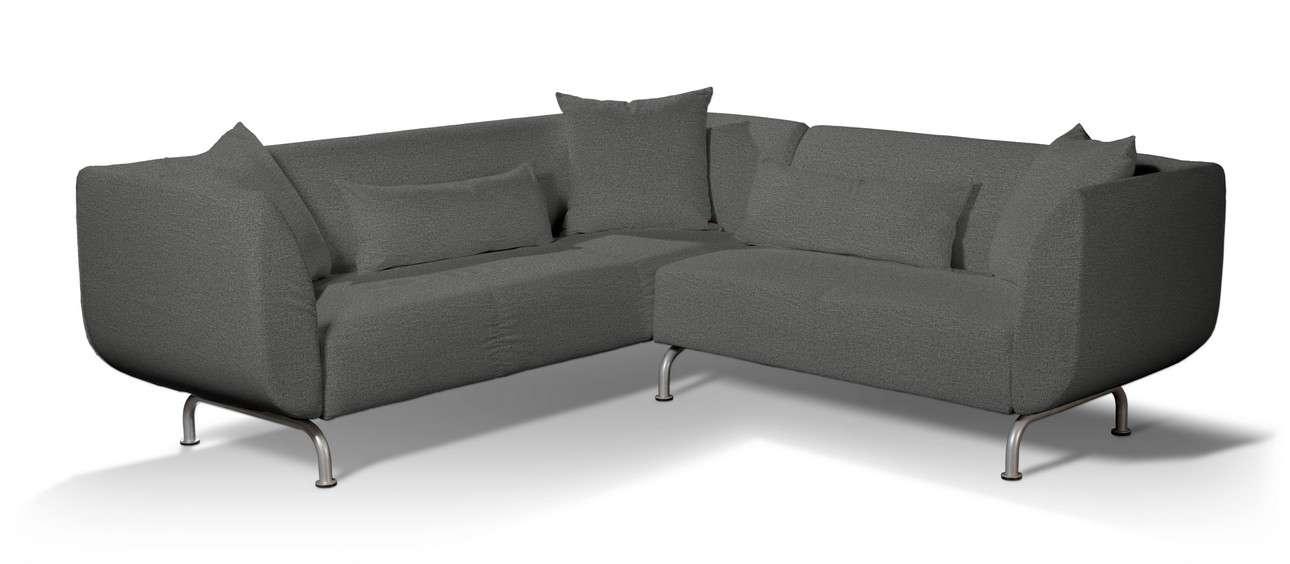 Pokrowiec na sofę narożną 3+2 Strömstad w kolekcji Madrid, tkanina: 161-24