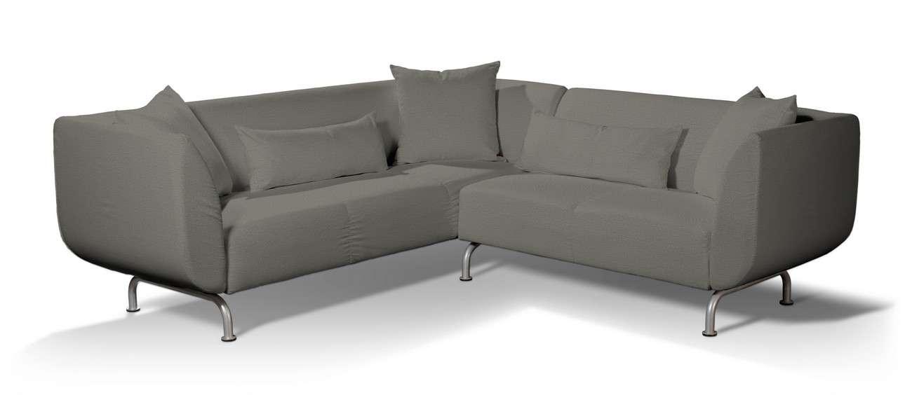 Pokrowiec na sofę narożną 3+2 Strömstad w kolekcji Etna, tkanina: 161-25