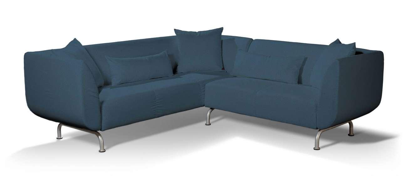 Pokrowiec na sofę narożną 3+2 Strömstad w kolekcji Etna, tkanina: 705-30