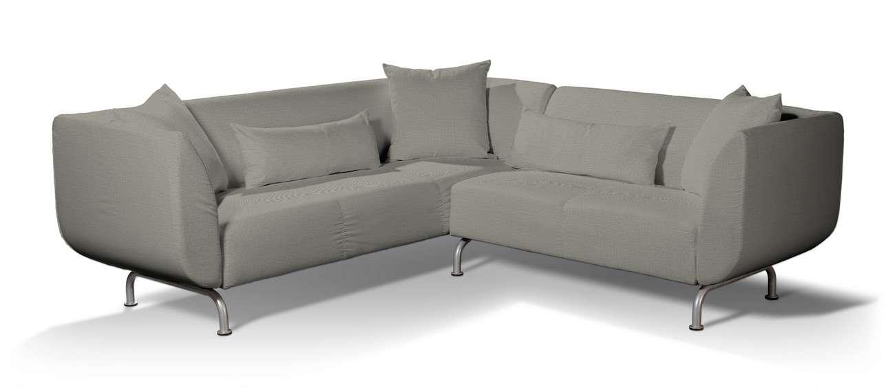 Pokrowiec na sofę narożną 3+2 Strömstad w kolekcji Bergen, tkanina: 161-83