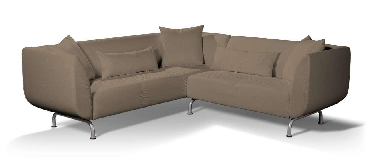 Pokrowiec na sofę narożną 3+2 Strömstad w kolekcji Bergen, tkanina: 161-85