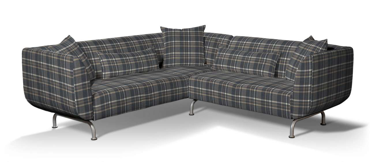 Pokrowiec na sofę narożną 3+2 Strömstad w kolekcji Edinburgh, tkanina: 703-16