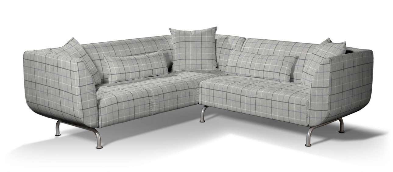 Pokrowiec na sofę narożną 3+2 Strömstad w kolekcji Edinburgh, tkanina: 703-18
