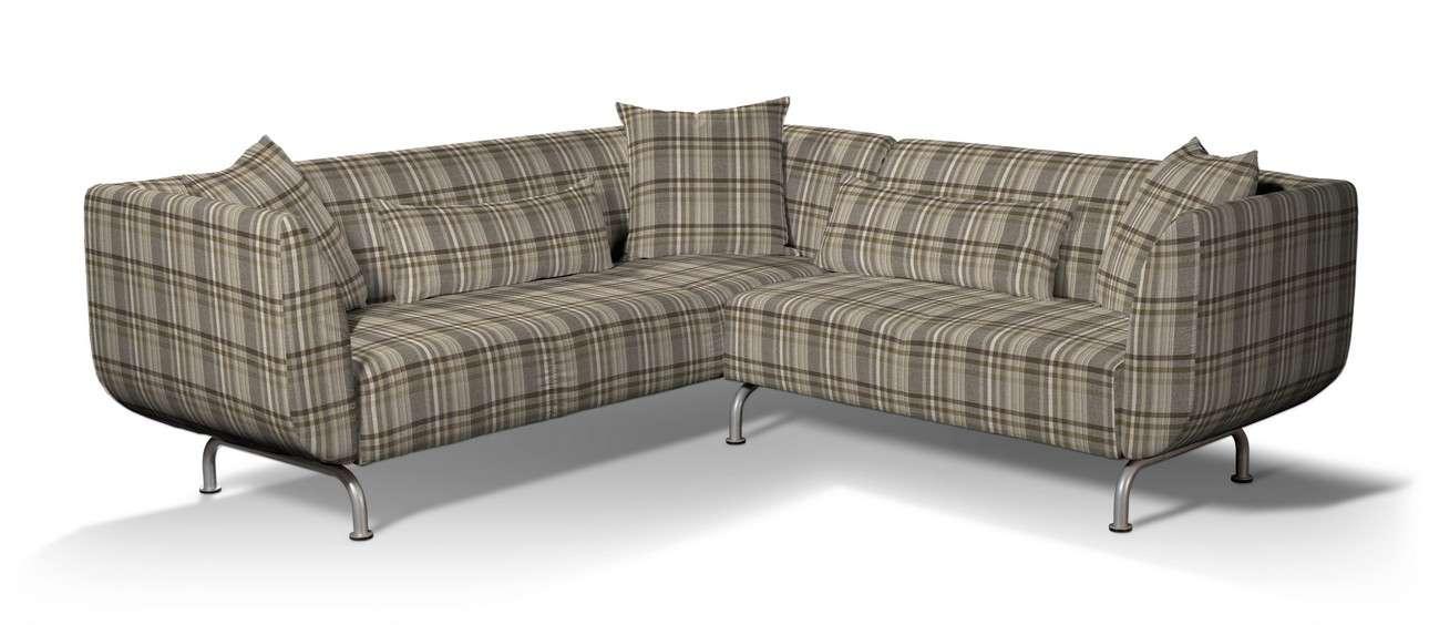 Pokrowiec na sofę narożną 3+2 Strömstad w kolekcji Edinburgh, tkanina: 703-17