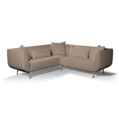 Pokrowiec na sofę narożną 3+2 Strömstad w kolekcji Bergen, tkanina: 161-75