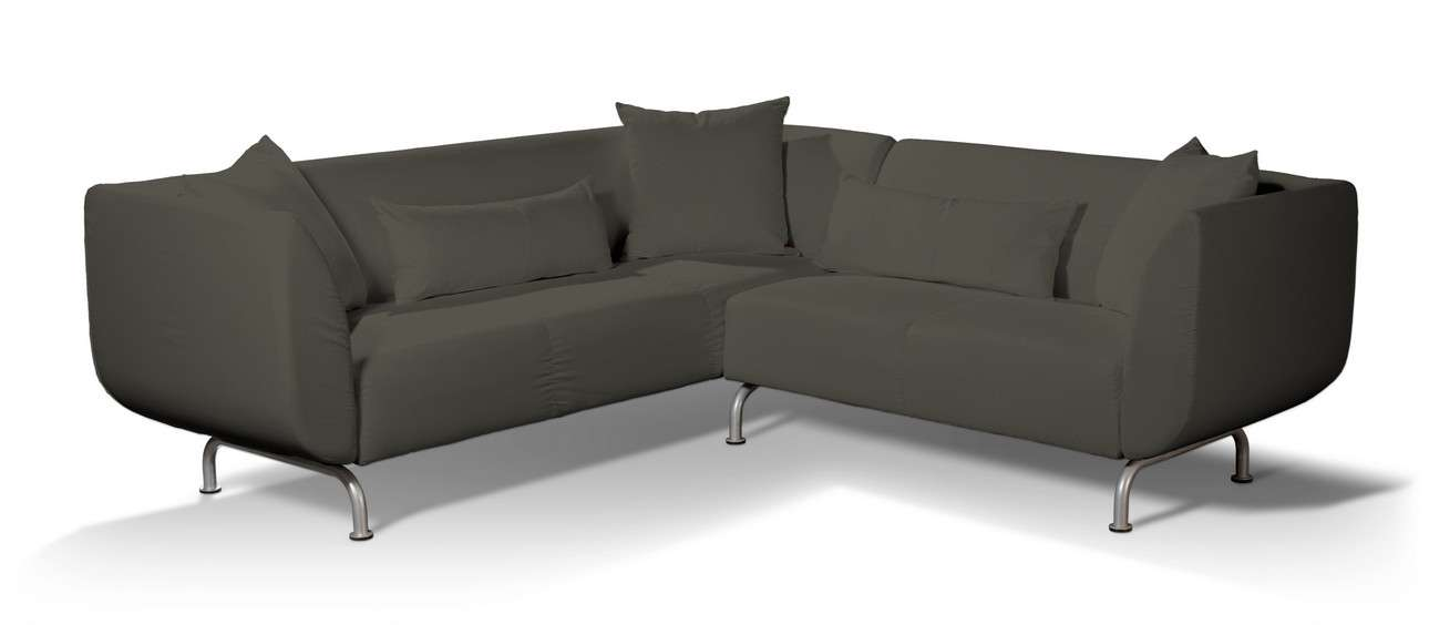 Pokrowiec na sofę narożną 3+2 Strömstad w kolekcji Living, tkanina: 161-55
