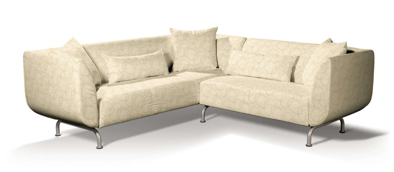 Pokrowiec na sofę narożną 3+2 Strömstad w kolekcji Living, tkanina: 161-81