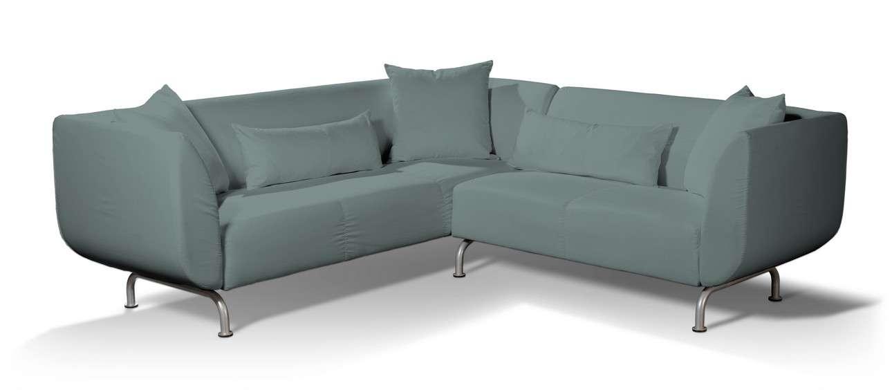 Pokrowiec na sofę narożną 3+2 Strömstad w kolekcji Cotton Panama, tkanina: 702-40