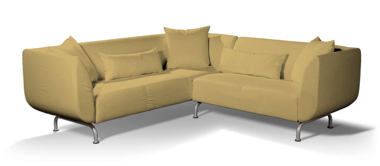 Pokrowiec na sofę narożną 3+2 Strömstad w kolekcji Cotton Panama, tkanina: 702-41