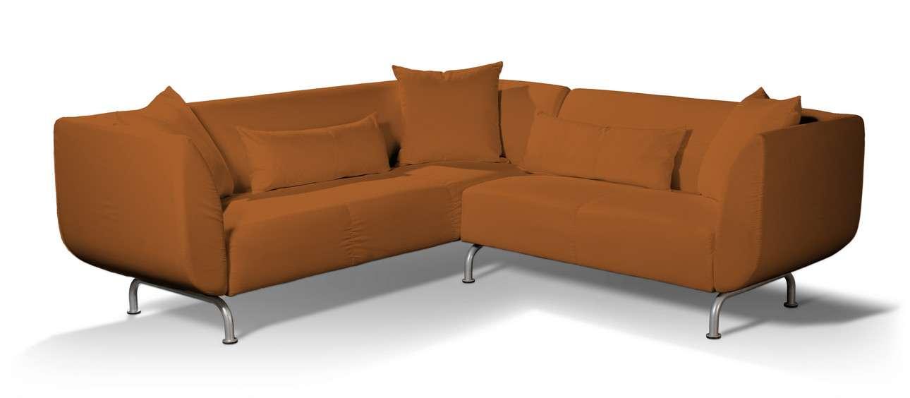 Pokrowiec na sofę narożną 3+2 Strömstad w kolekcji Cotton Panama, tkanina: 702-42