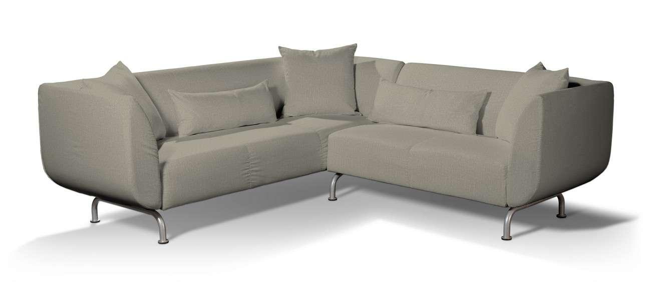 Pokrowiec na sofę narożną 3+2 Strömstad w kolekcji City, tkanina: 704-80