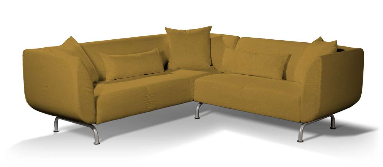 Pokrowiec na sofę narożną 3+2 Strömstad w kolekcji City, tkanina: 704-82