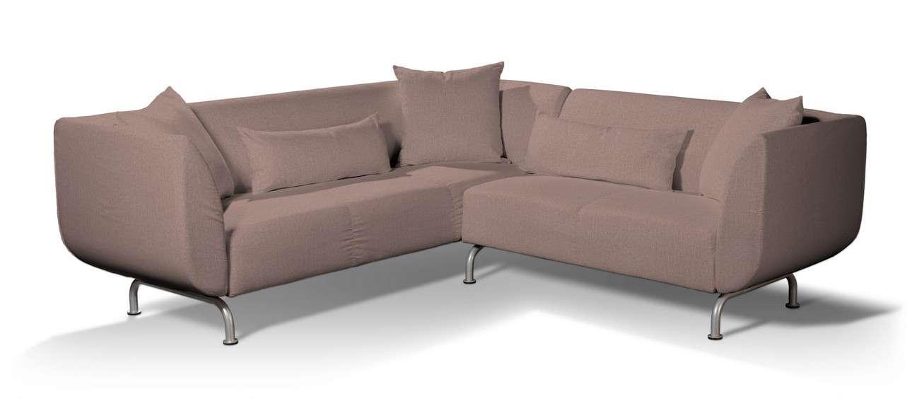 Pokrowiec na sofę narożną 3+2 Strömstad w kolekcji City, tkanina: 704-83