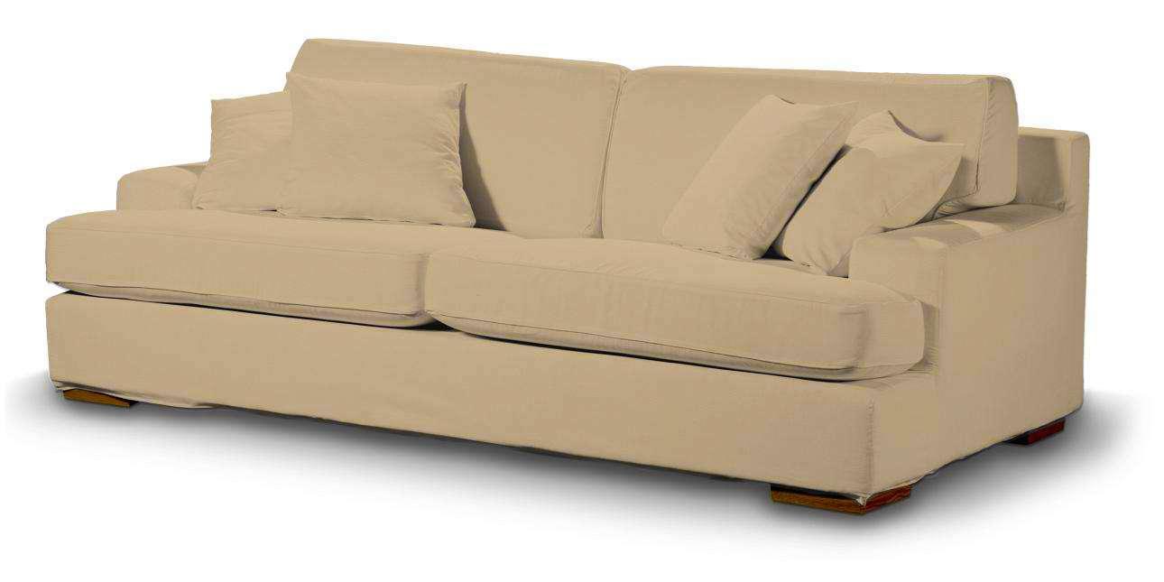 Pokrowiec na sofę Göteborg nierozkładaną w kolekcji Cotton Panama, tkanina: 702-01