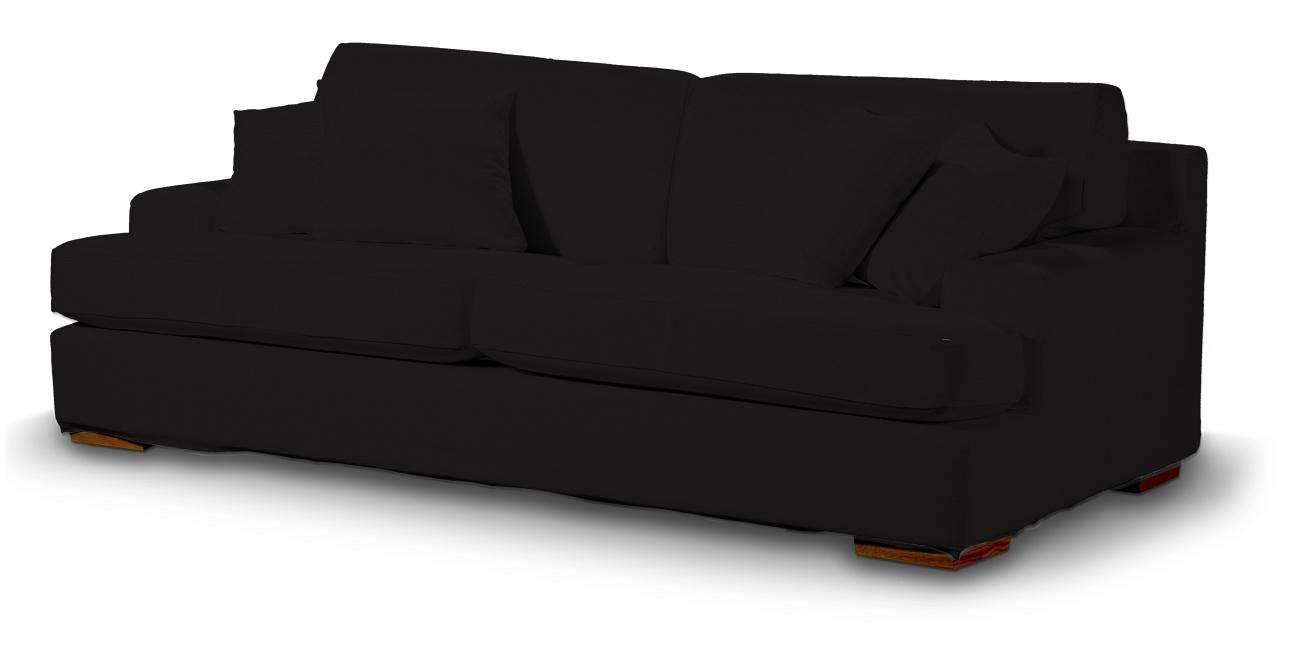 Pokrowiec na sofę Göteborg nierozkładaną w kolekcji Cotton Panama, tkanina: 702-09