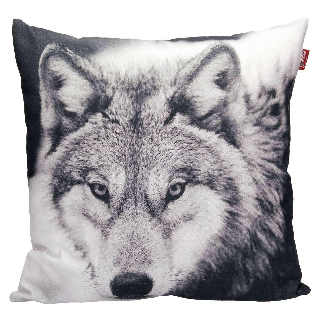 Deko- Kissenhülle Wolf 45x45cm