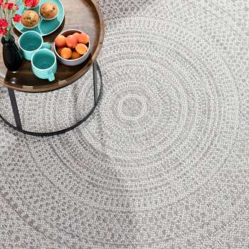 Dywan Breeze Circles wool/cliff grey 160x230cm 160x230cm