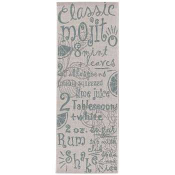 Dywan Cottage Letters wool/spa blue 60x180cm