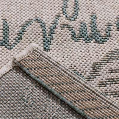 Küchenläufer Cottage Letters wool/ spa blue 60x180cm