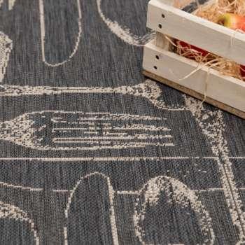 Dywan Cottage Cutlery antracite/sand 60x180cm 60x180cm