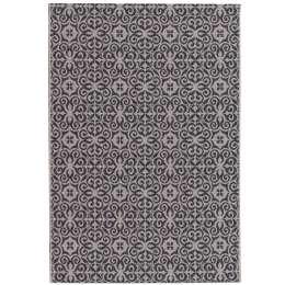 Teppich Modern Ethno sand/ anthracite 67x130cm