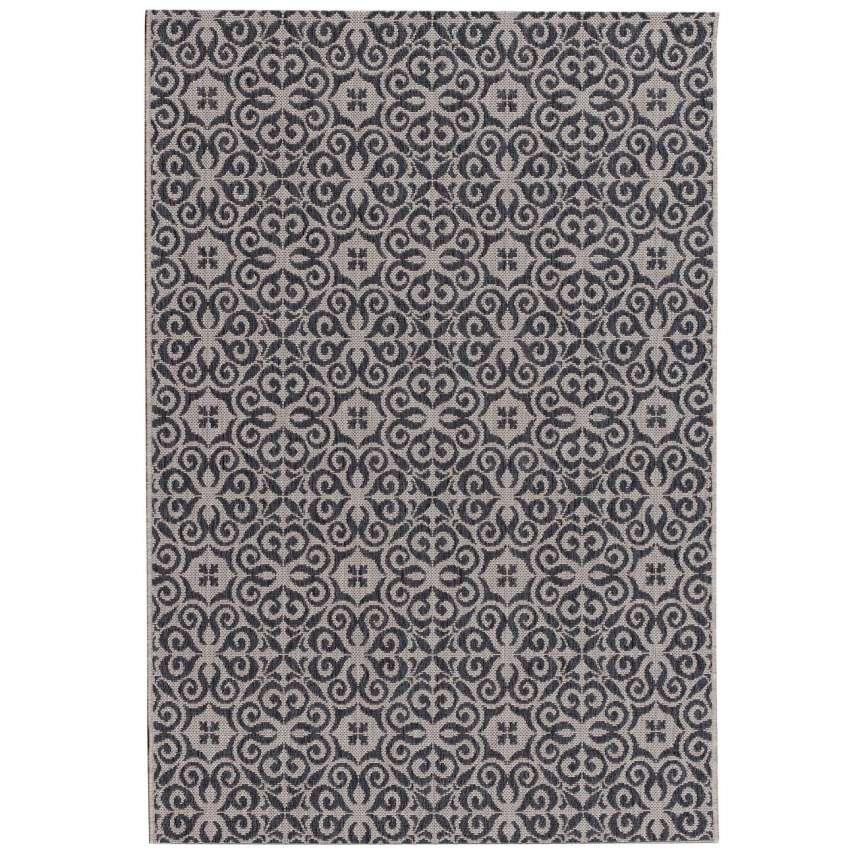teppich modern ethno sand anthracite 67x130cm 67x130cm. Black Bedroom Furniture Sets. Home Design Ideas