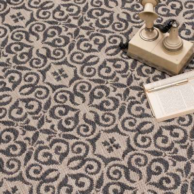 Dywan Modern Ethno sand/anthracite 67x130cm