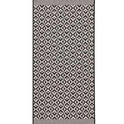 Koberec Modern Geometric black/wool, 67x130cm Koberce - Dekoria.sk