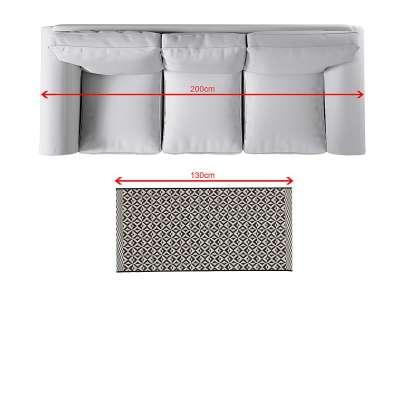 Teppich Modern Geometric black/ wool 67x130cm Teppiche - Dekoria.de