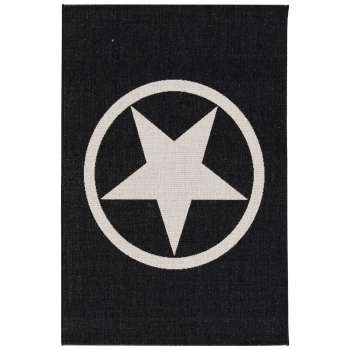 Teppich Modern Star black/ wool 67x130cm