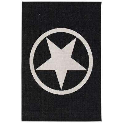 Dywan Modern Star black/wool 67x130cm