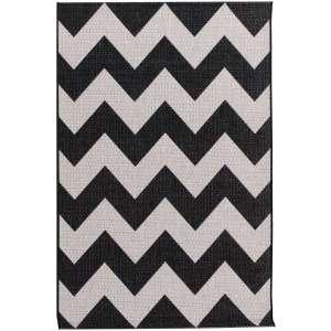 Dywan Modern Chevron black/wool 67x130cm 67x130cm
