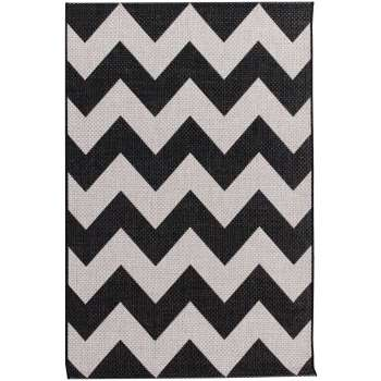 Dywan Modern Chevron black/wool 67x130cm
