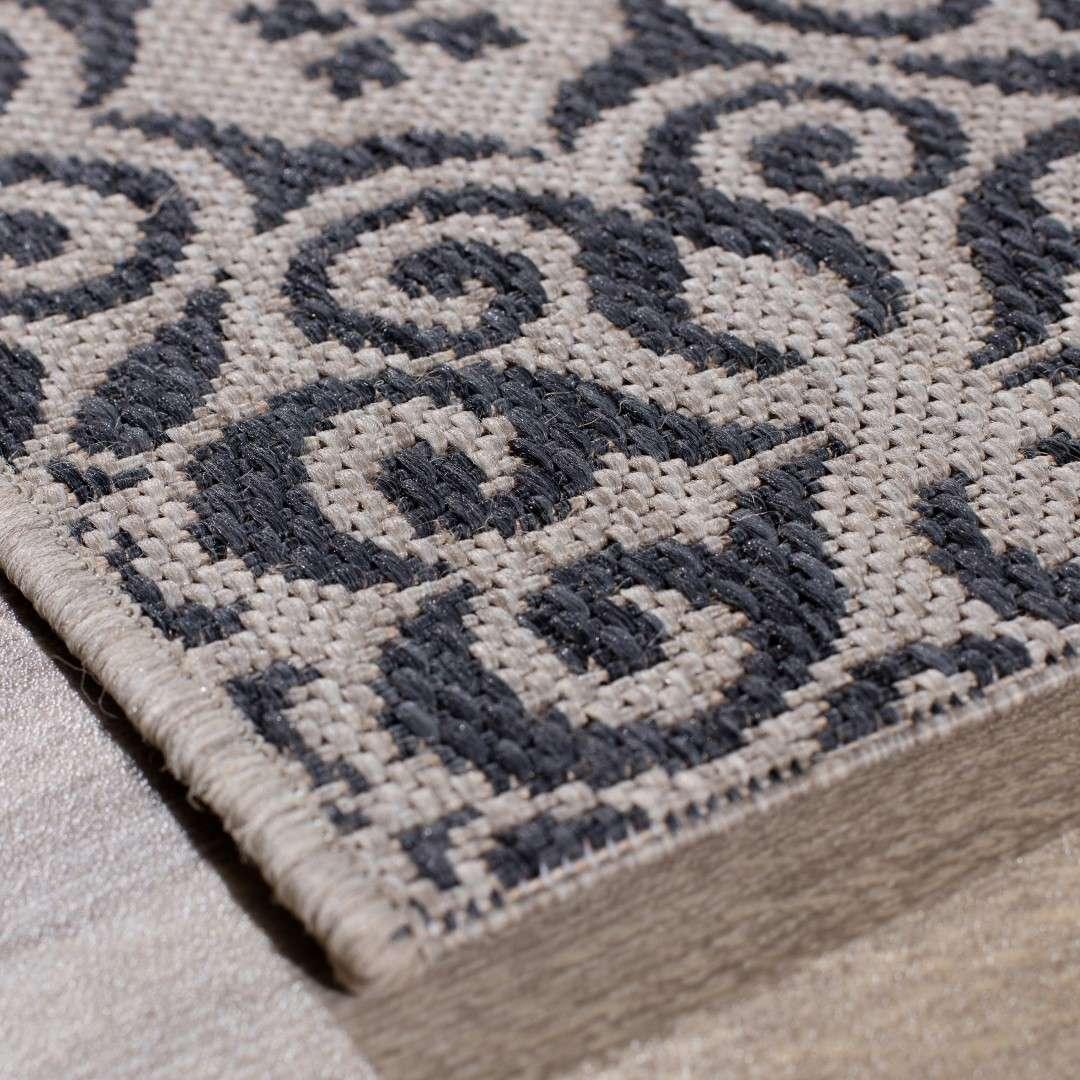 teppich modern ethno sand anthracite 120x170cm dekoria. Black Bedroom Furniture Sets. Home Design Ideas